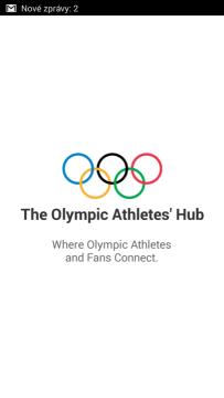 Olympic Athletes' Hub: úvodní obrazovka