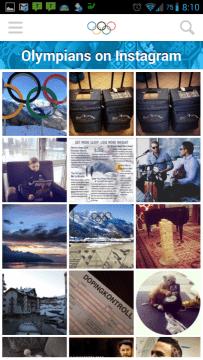 Olympic Athletes' Hub: fotografie na Instagramu