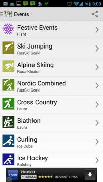 2014 Sochi Winter Games: sportovní disciplíny