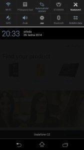 Sony Xperia Z1 Compact Screenshot - notifikační oblast (1)