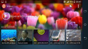 Sony Xperia Z1 Compact Screenshot - Videopřehrávač (3)