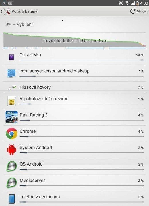 Sony Xperia Z1 Compact Screenshot - výdrž baterie (2)