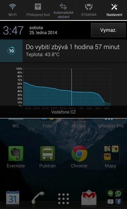 Sony Xperia Z1 Compact Screenshot - zahřívání (2)