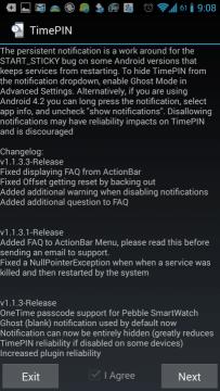 Informace o ikoně a changelog