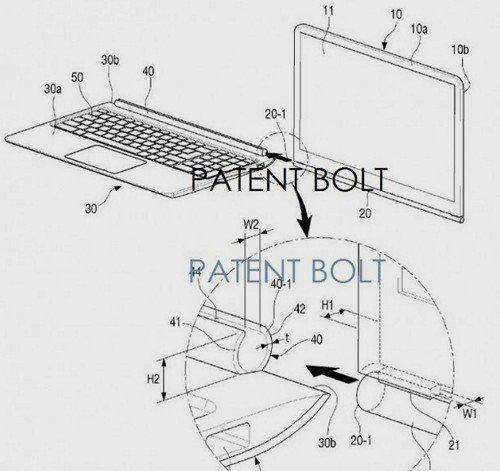 Ilustrace tabletu-transformeru od Samsungu