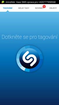 Aplikace Shazam: rozpoznání skladby