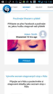 Aplikace Shazam: novinky