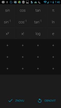 Volné pozice na uživatelská tlačítka