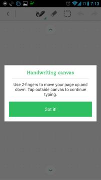 Na plátně se můžete posouvat dvěma prsty