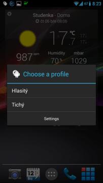 Rychlé přepínání profilů