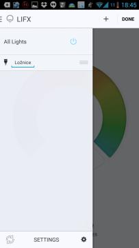 Přejmenování žárovky v aplikaci