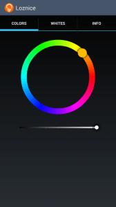 Simple LIFX Free: výběr barvy světla