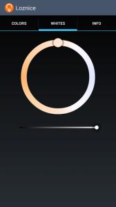 Simple LIFX Free: výběr teploty světla