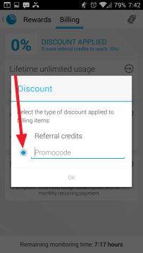 Přepněte na volbu Promocode