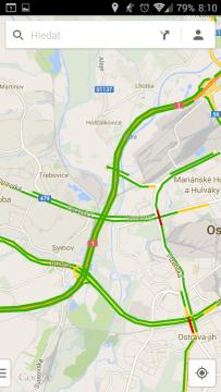Mapy: informace o dopravě