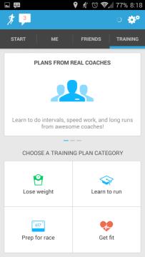 Runkeeper: tréninky
