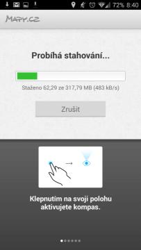 Mapy.cz: stahování mapových podkladů
