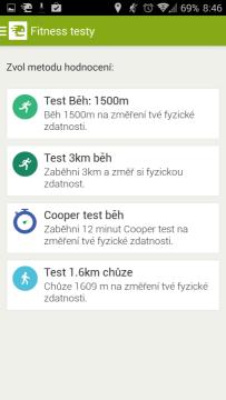 Endomondo Sports Tracker: fitness testy