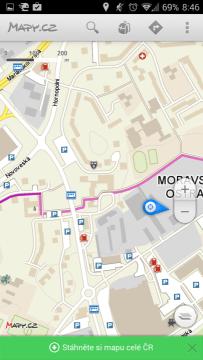 Mapy.cz: mapové podklady
