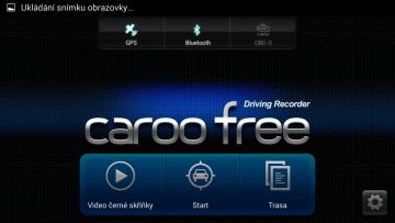 CaroO: úvodní obrazovka