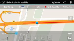 CaroO: přehrávání v mapě