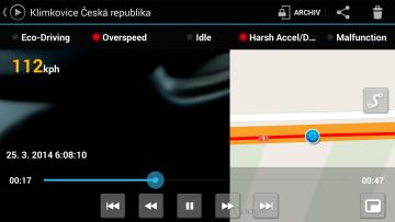 CaroO: přehrávání videa a mapy