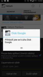 Přihlásili jste se k Disku Google