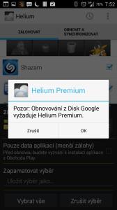Cloudové úložiště vyžaduje verzi Pro