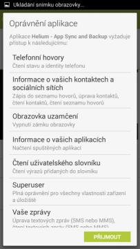 Nainstalujte aplikaci Helium na zařízení s Androidem