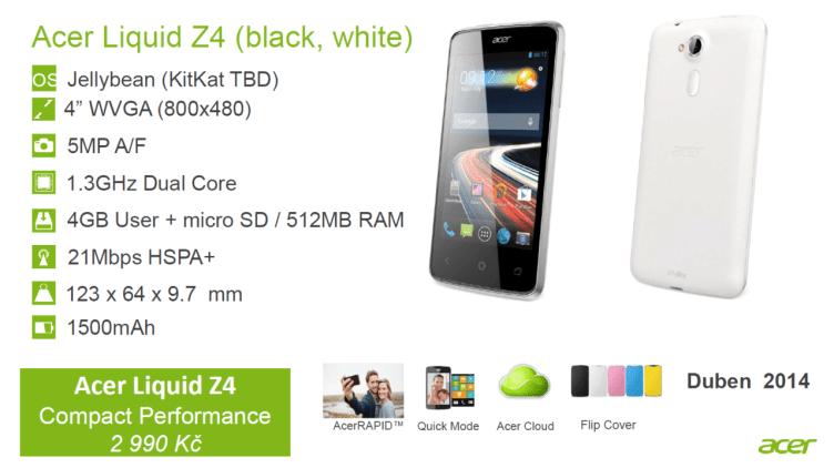 Acer Liquid Z4