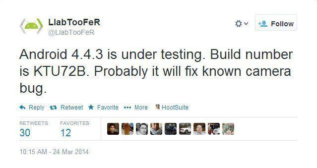 Příspěvek vývojáře LlabTooFera na Twitteru