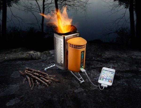 BioLite CampStove nabije váš telefon v přírodě