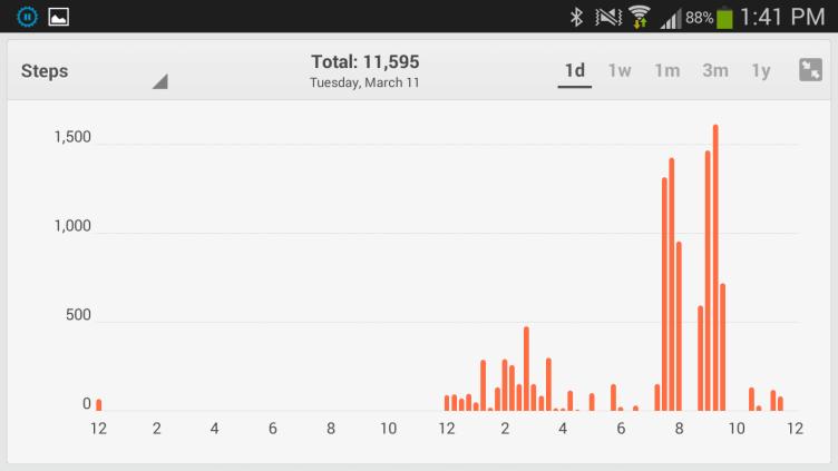 Fitbit Flex aplikace grafy 2