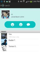 Fitbit Flex aplikace kamarádi