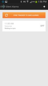 Fitbit Flex aplikace nastavení budíku 3