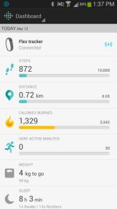 Fitbit Flex aplikace nástěnka