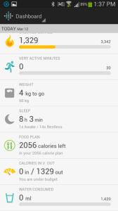 Fitbit Flex aplikace nástěnka 2