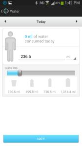 Fitbit Flex aplikace pitný režim