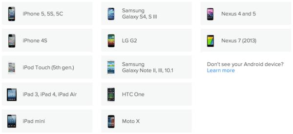 Fitbit Flex seznam kompatibilních zařízení