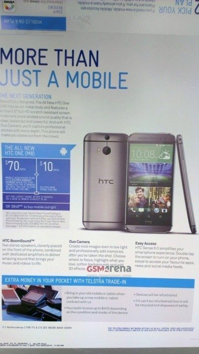 HTC One leták