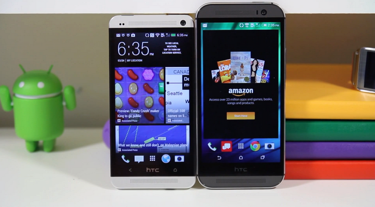htc one m8 and m7