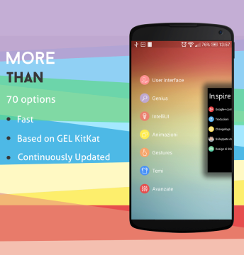 Android aplikace - inspire launcher 1