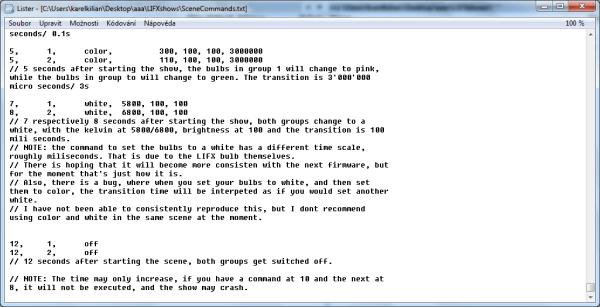 vytvoření sekvence pro LIFXshownení právě uživatelsky přívětivé