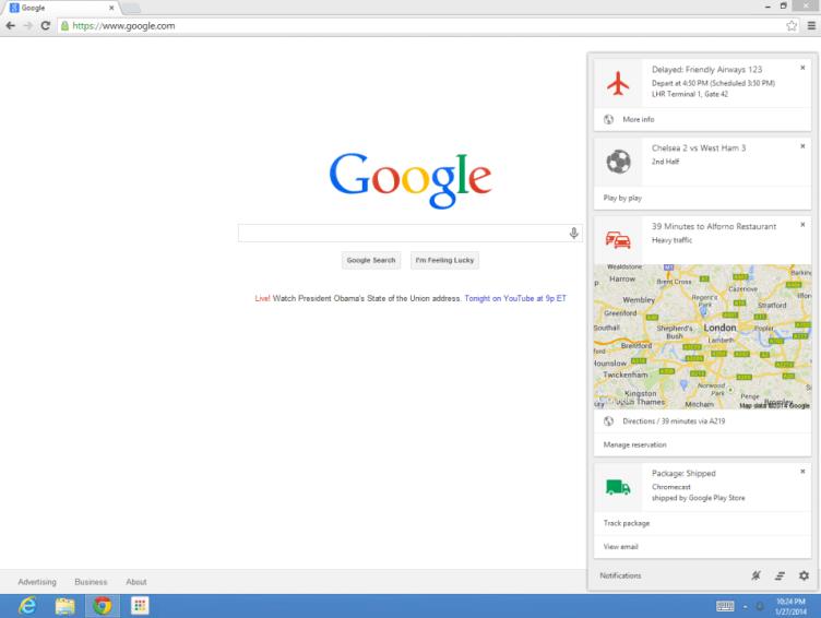 Google Now nyní i v desktopové verzi prohlížeče Chrome