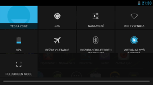 nvidia shield notifikační lišta