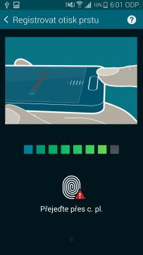 Samsung Galaxy S5 čtečka otisků prstů 2