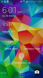 Samsung Galaxy S5 čtečka otisků prstů 3