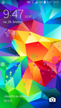 Samsung Galaxy S5 efekt barev