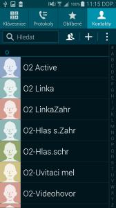 Samsung Galaxy S5 Kontakty