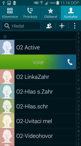 Samsung Galaxy S5 Kontakty Volání